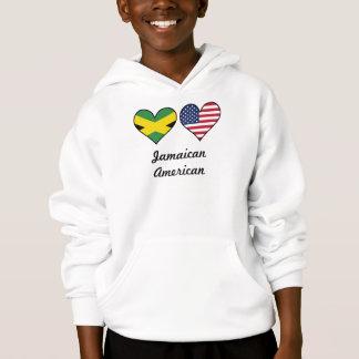 Jamaican American Flag Hearts