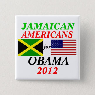 Jamaican americans for Obama 2 Inch Square Button
