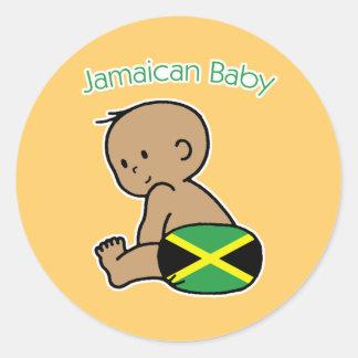 Jamaican Baby Classic Round Sticker