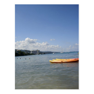 Jamaican Beach with boat Postcard