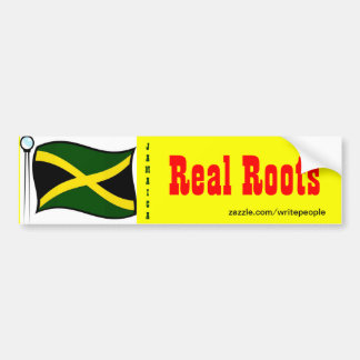 Jamaican  bumper stickers-real roots bumper sticker