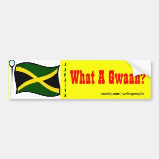 Jamaican  bumper stickers-what a gwaan bumper sticker