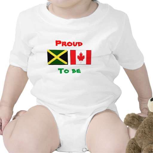 Jamaican/Canadian baby t-shirts