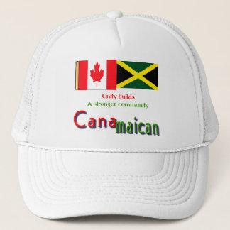 jamaican-canadian roots trucker hat