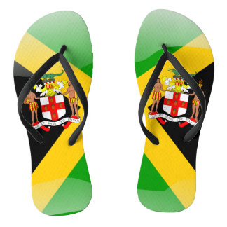 Jamaican Coat of arms Flip Flops