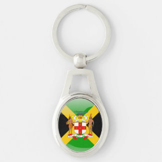 Jamaican Coat of arms Keychain