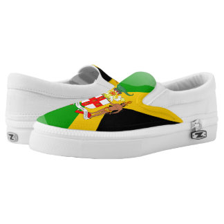 Jamaican Coat of arms Slip-On Sneakers