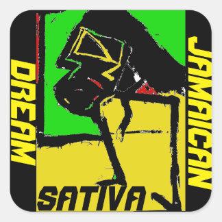 Jamaican Dream Square Sticker