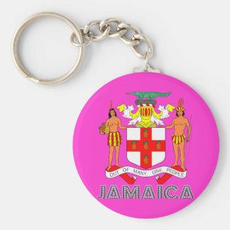 Jamaican Emblem Keychain