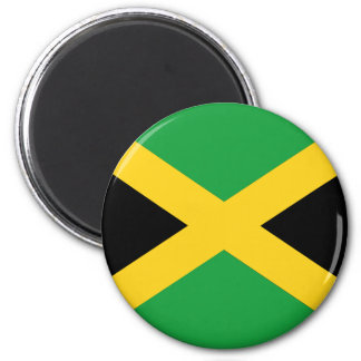Jamaican flag 2 inch round magnet