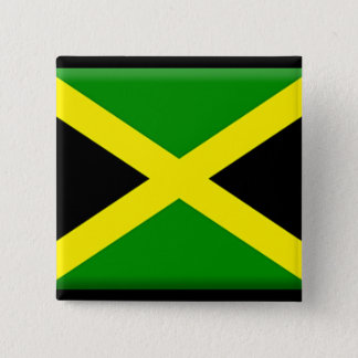 Jamaican Flag 2 Inch Square Button