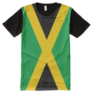 Jamaican Flag All-Over-Print T-Shirt