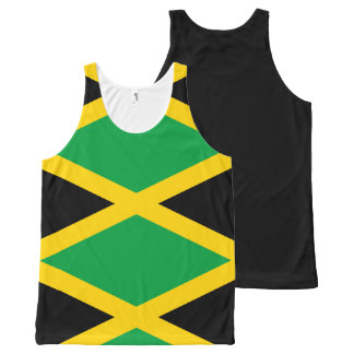 Jamaican Flag All-Over-Print Tank Top