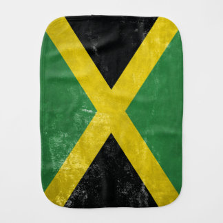 Jamaican Flag Burp Cloth