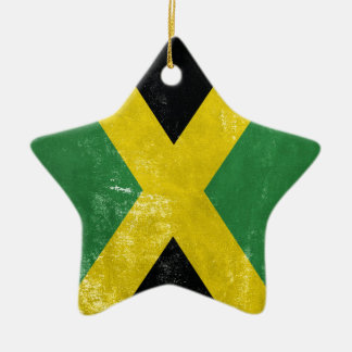 Jamaican Flag Ceramic Star Ornament