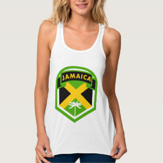 Jamaican Flag Crest Style Tank Top
