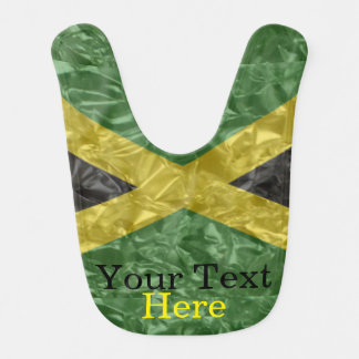 Jamaican Flag - Crinkled Bib