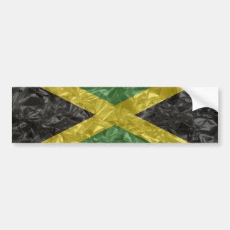Jamaican Flag - Crinkled Bumper Sticker