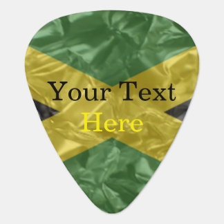Jamaican Flag - Crinkled Guitar Pick
