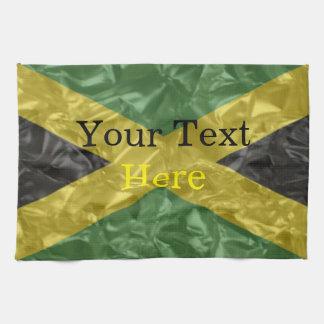 Jamaican Flag - Crinkled Kitchen Towel