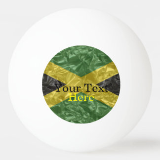 Jamaican Flag - Crinkled Ping Pong Ball