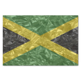 Jamaican Flag - Crinkled Tissue Paper