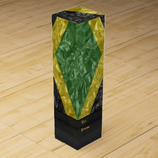 Jamaican Flag - Crinkled Wine Gift Box