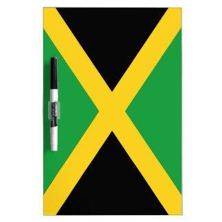 Jamaican flag dry erase white board