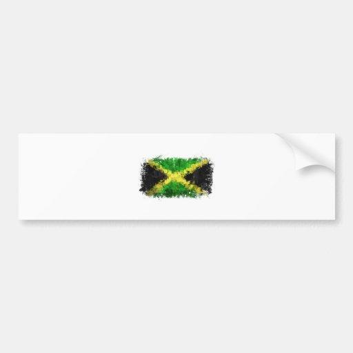 Jamaican Flag Graffiti Bumper Sticker