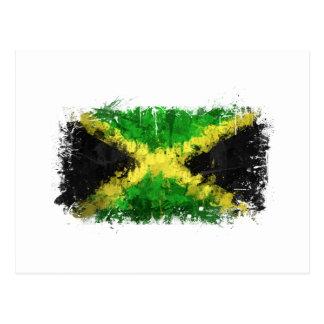 Jamaican Flag Graffiti Postcard
