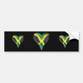 Jamaican Flag In A Heart Bumper Sticker