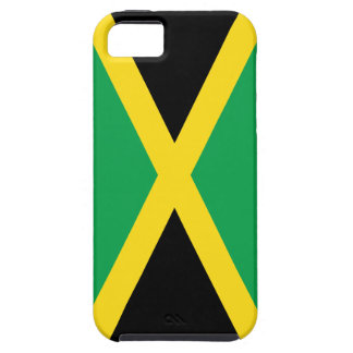 Jamaican Flag in Green, Black and Gold iPhone 5 Case