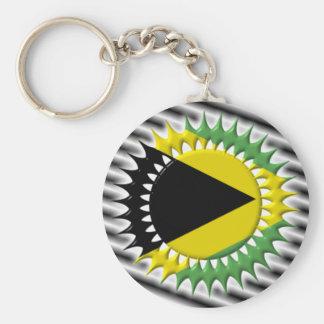 Jamaican Flag Keychain