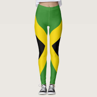 Jamaican flag lagging all over design leggings