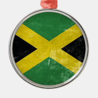 Jamaican Flag Metal Ornament