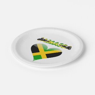Jamaican flag paper plate