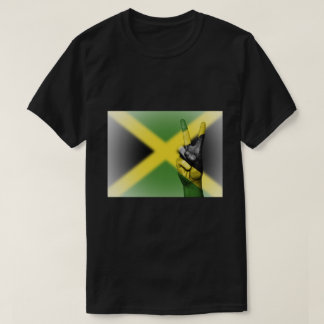 Jamaican Flag Peace Sign - Patriotic T-Shirt