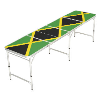 jamaican flag Regulation Size Beer Pong Table
