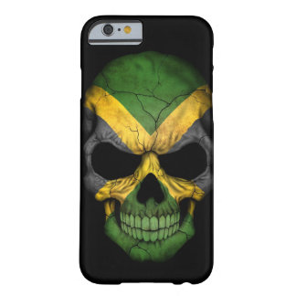 Jamaican Flag Skull on Black Barely There iPhone 6 Case