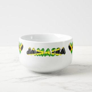 Jamaican flag soup mug