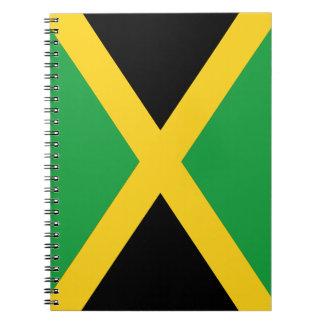 Jamaican flag spiral notebook