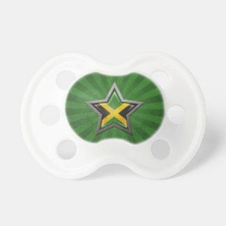 Jamaican Flag Star with Rays of Light Pacifier