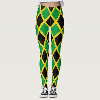 Jamaican Flag tiled Leggings