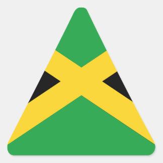 Jamaican flag triangle sticker