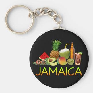 Jamaican food keychain