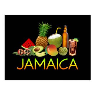 Jamaican food postcard