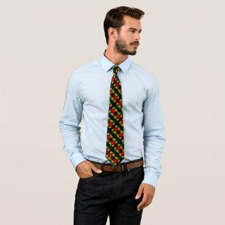 Jamaican Gentleman's Satin Lion Stripe Tie