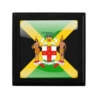 Jamaican glossy flag jewelry boxes