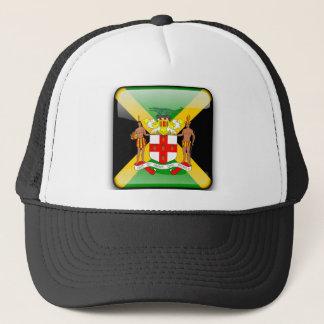 Jamaican glossy flag trucker hat