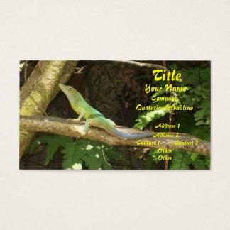 Jamaican Green Lizard Business Card